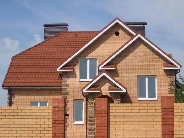 Дома с терракотовой крышей фото